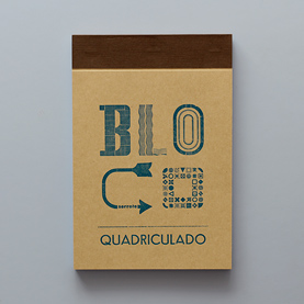 squared notepad (brown)